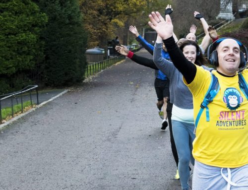 Edinburgh Silent Fitness Tours get underway with the EGGS