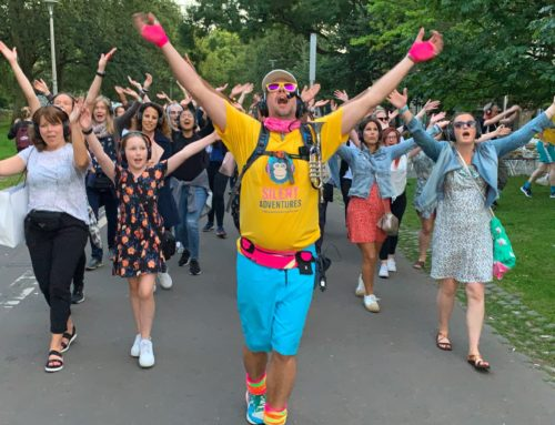 Did someone say FREE Silent disco walking tours at the Bedford SpectaculArts Street Festival?