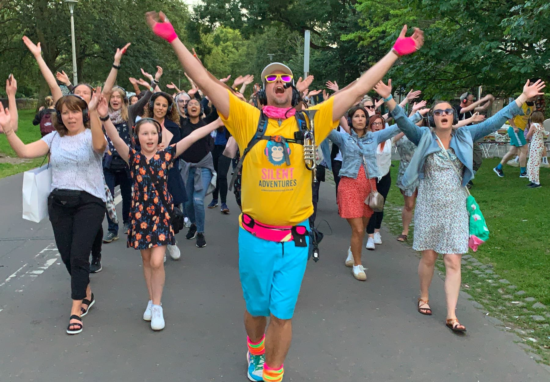 Silent disco Walking Tour in London