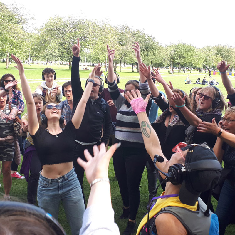Silent Adventures Silent Disco Walking tours
