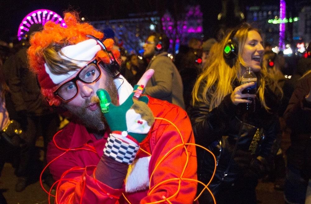 Silent Disco host at street party in Edinburgh