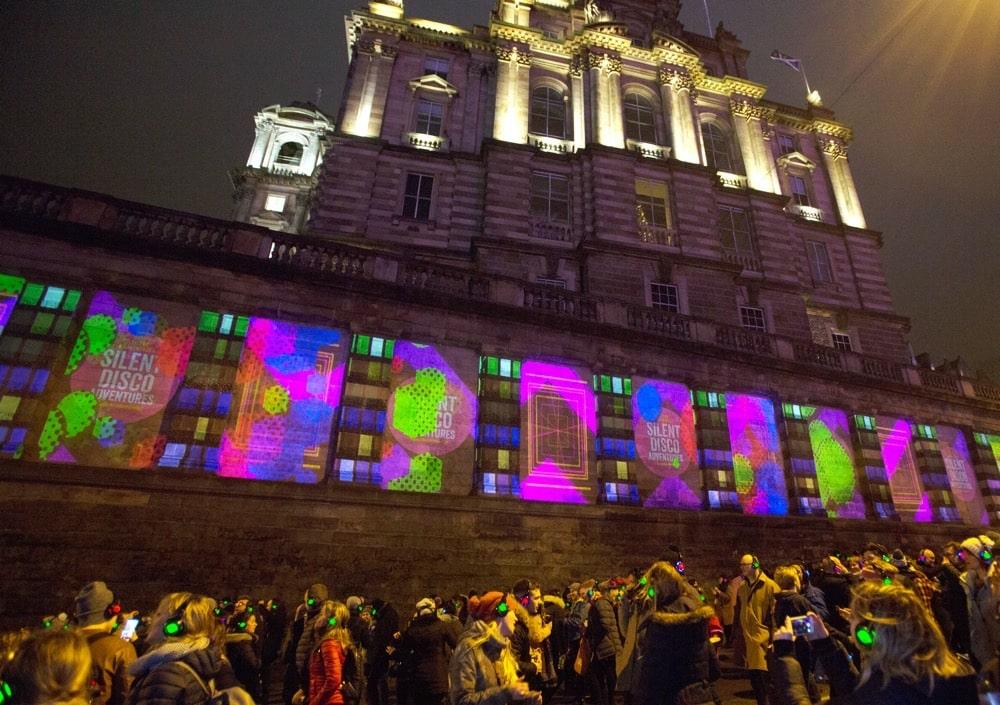 Silent Disco street party in Edinburgh