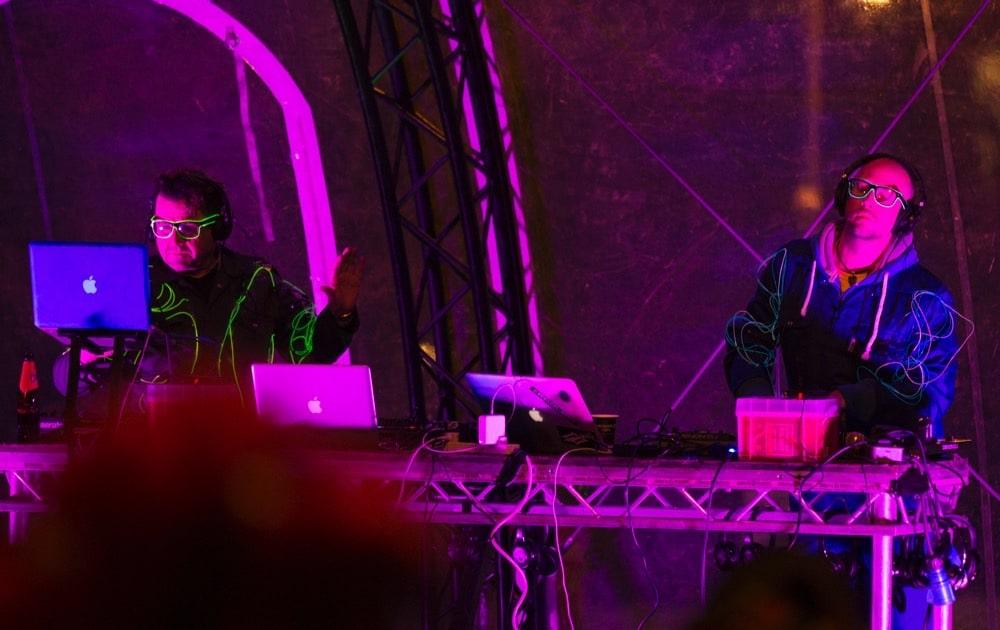 Silent Disco street party DJs in Edinburgh