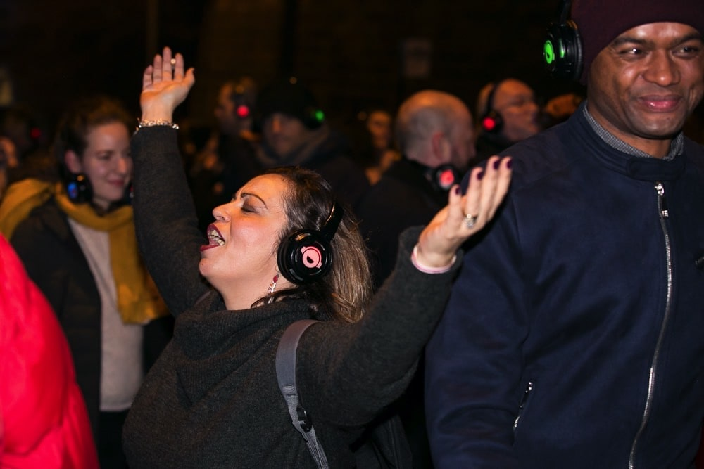 Silent Disco street party joy in Edinburgh