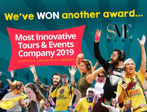"Silent Adventures awarded ""Most Innovative Tours & Events Company 2019"" by Scottish Enterprise Awards"