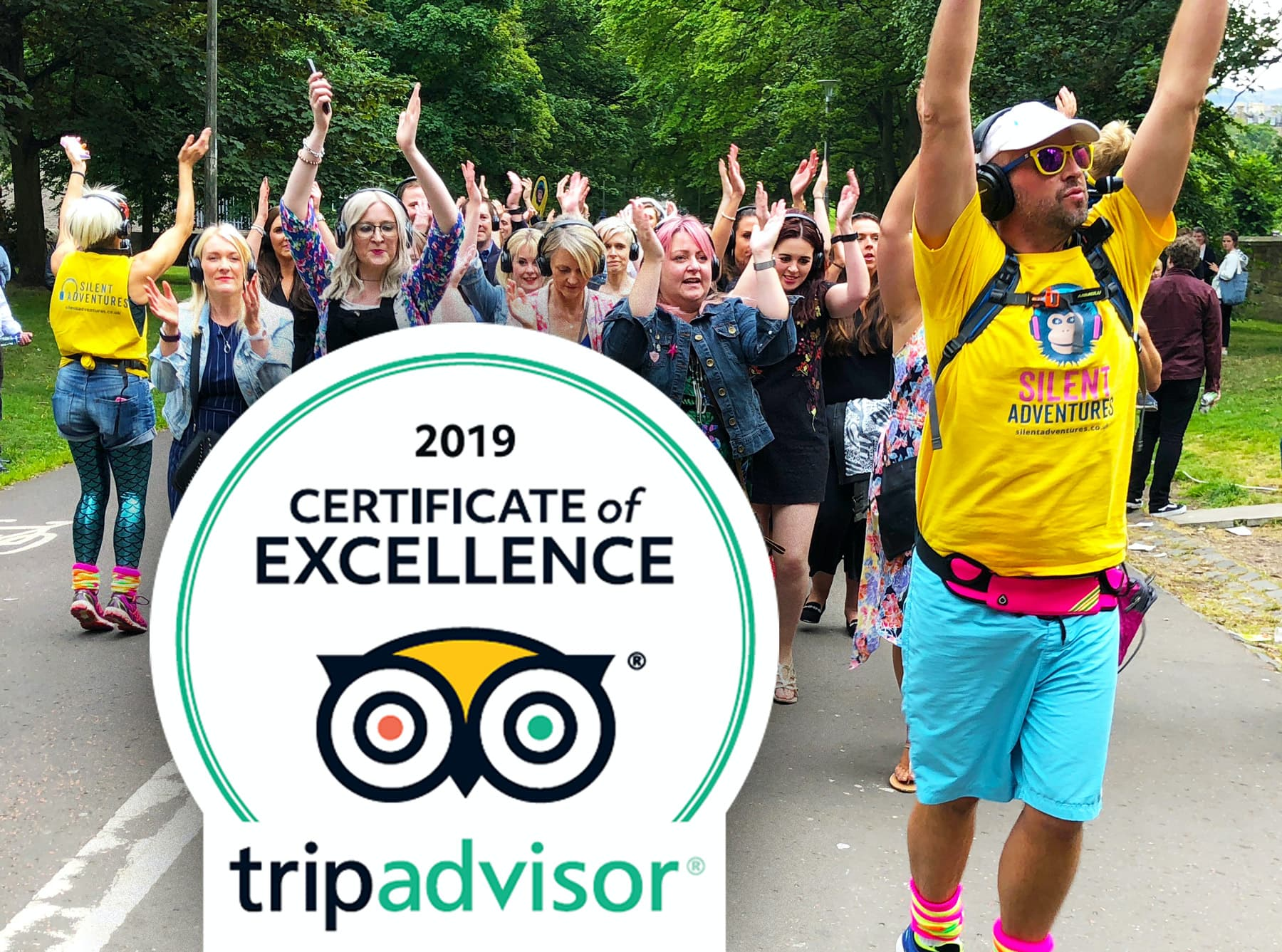 Tripadvisor Certificate of Excellence Silent Disco Walking Tours Edinburgh