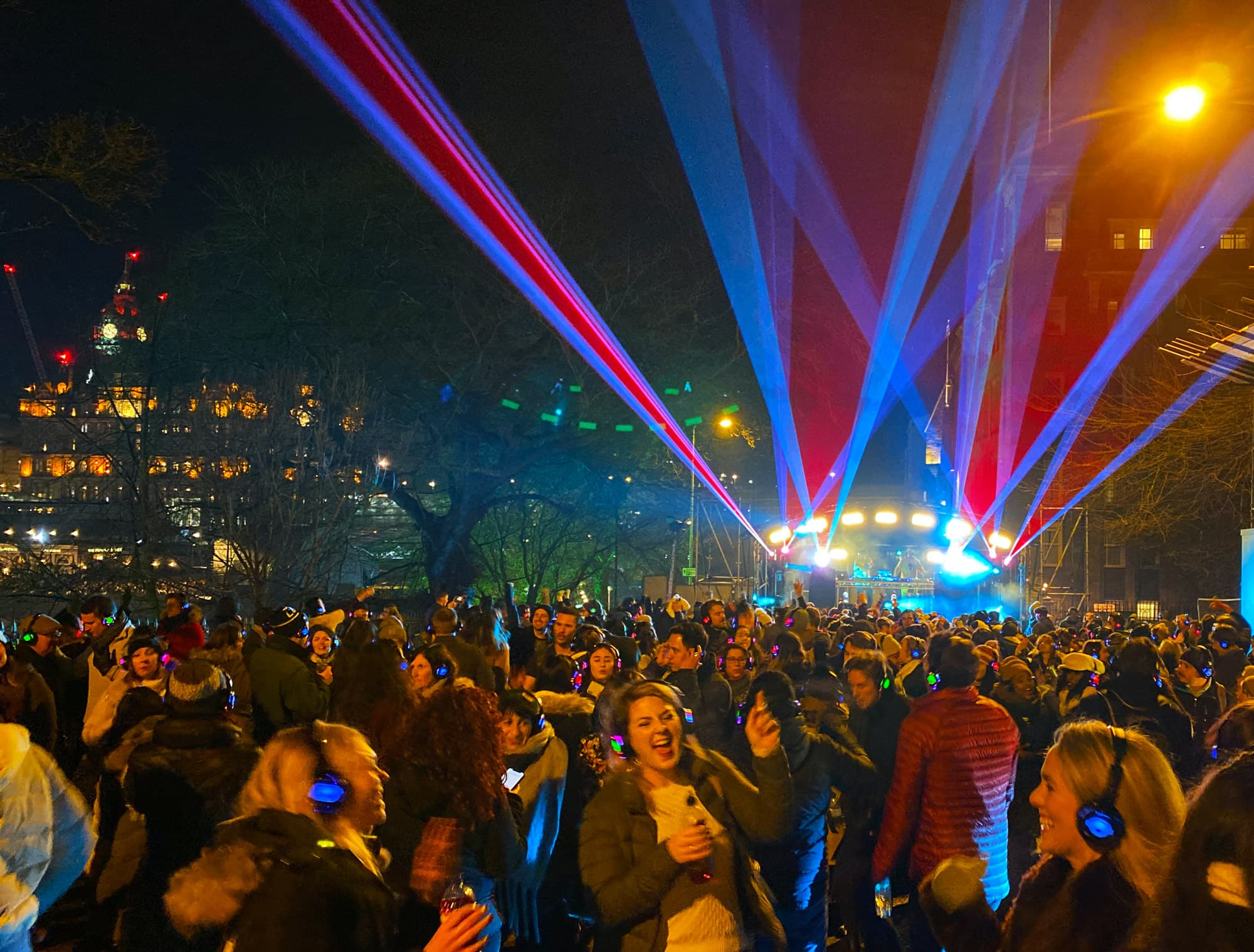 Massive silent disco party in Edinburgh