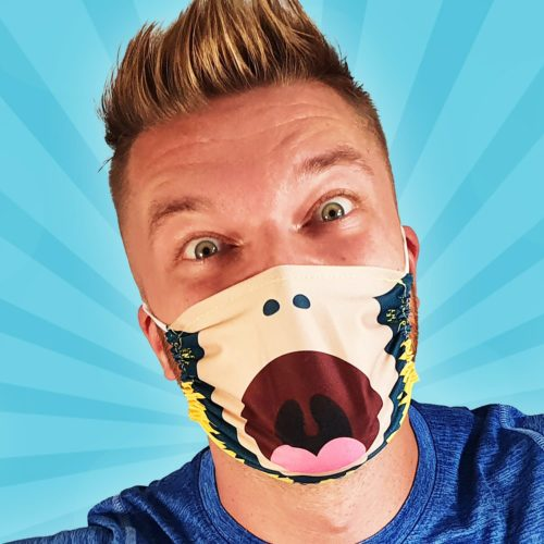 Dance Monkey Silent Disco Face Mask