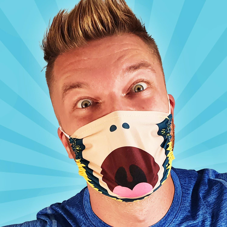 Dance Monkey Silent Disco Face Mask