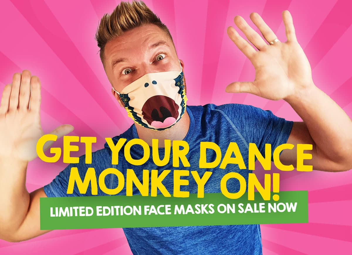 Silent Adventures Dance Monkey Covid Face Mask
